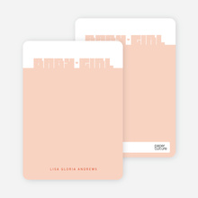 Note Cards: 'Bold Modern Girls' Baby Announcement' cards. - Sienna