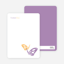 Note Cards: 'Butterfly Party Invitations' cards. - Apricot