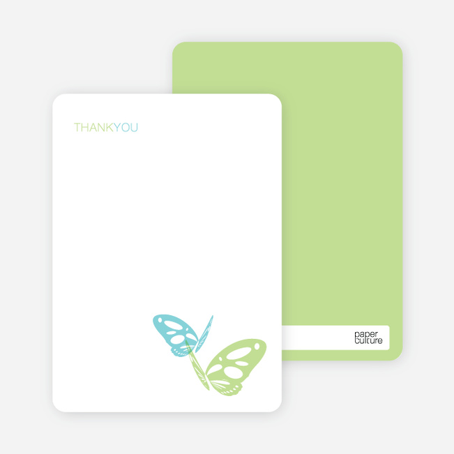 Note Cards: 'Butterfly Party Invitations' cards. - Periwinkle Blue