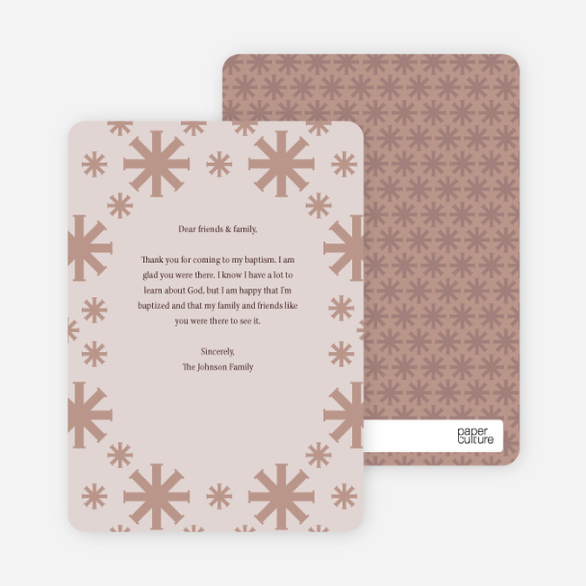 Note Cards: 'Crossing Crosses Baptism Invitation' cards. - Light Purple