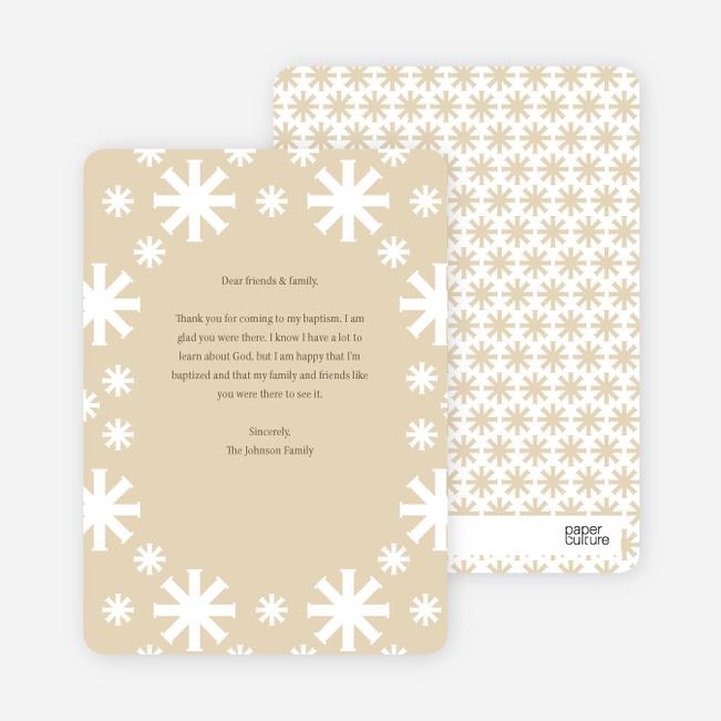 Note Cards: 'Crossing Crosses Baptism Invitation' cards. - Pale Orange