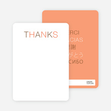 Note Cards: 'Flirty Thirty Birthday' cards. - Orange