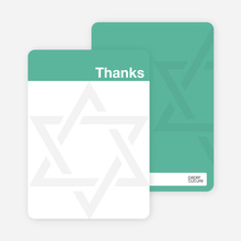 Mazel Tov Bar and Bat Mitzvah Note Cards - Sea Green