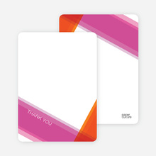 Modern Cross Baptism Notecard - Flaming Orange