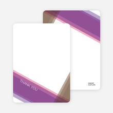 Note Cards: 'Modern Cross Baptism Invite' cards. - Purple