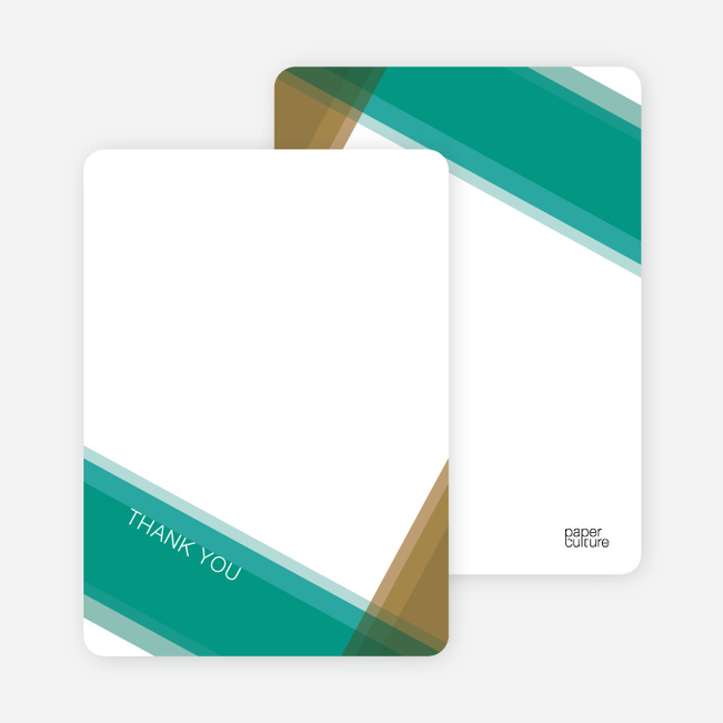 Note Cards: 'Modern Cross Baptism Invite' cards. - Turquoise