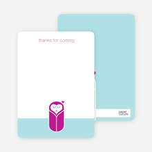 Note Cards: 'Modern Swaddle' cards. - Magenta