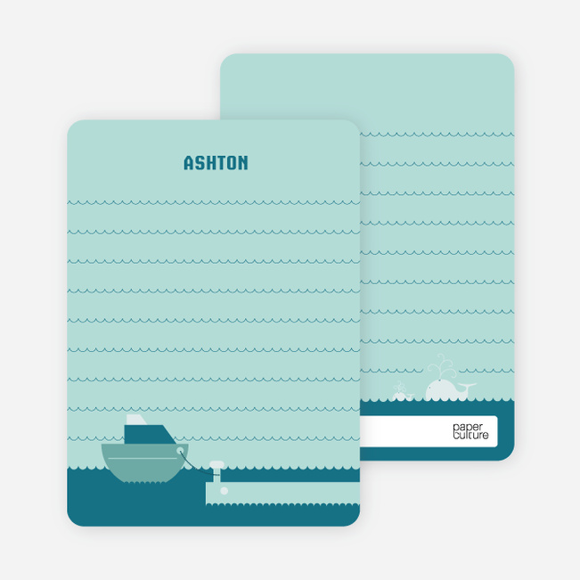 Note Cards: 'One Fish Two Fish Three Fish More' cards. - Teal