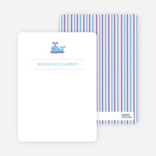 Note Cards: 'Quilted Whale' cards. - Pale Purple