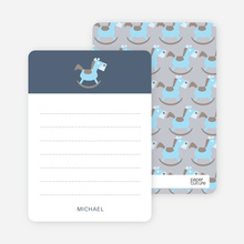 Rocking Horse Notecard - Grayish Blue