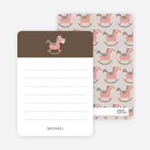 Rocking Horse Notecard - Burly Wood