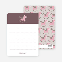 Rocking Horse Notecard - Rust