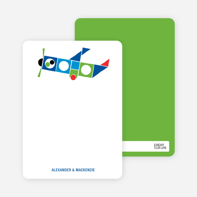 Notecards for the 'Airplane Announcement' cards. - Blue