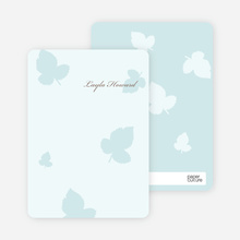 Elegant Leaves Bridal Shower Note Cards - Ice Blue