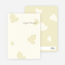 Notecards for the 'Elegant Leaves Bridal Shower' cards. - Pale Chiffon