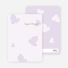 Elegant Leaves Bridal Shower Note Cards - Wisteria
