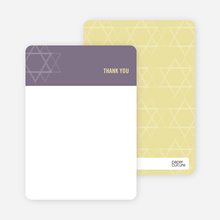 Notecards for the 'Intertwined Stars of David' cards. - Eggplant