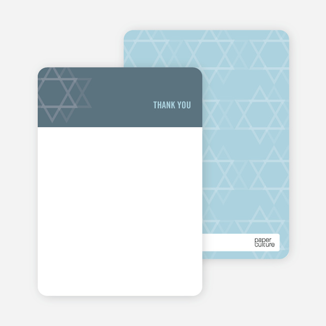 Notecards for the 'Intertwined Stars of David' cards. - Slate Blue