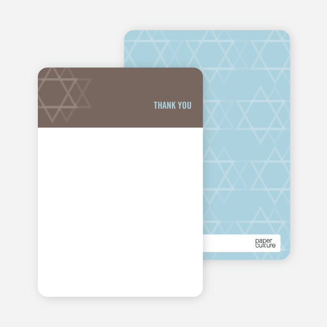 Notecards for the 'Intertwined Stars of David' cards. - Cocoa