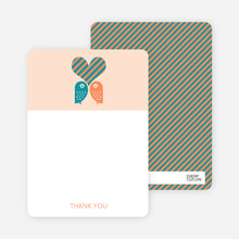 Owls in Love Bridal Shower Note Cards - Teal
