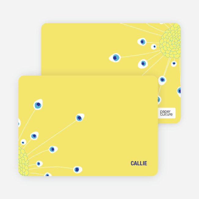 Notecards for the 'Penny Peacock' cards. - Canary Yellow