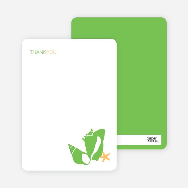 Notecards for the 'She Sells Seashells' cards. - Apple Green