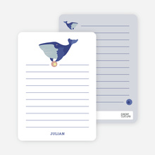 Notecards for the 'Whale of a Time' cards. - Purple Blue