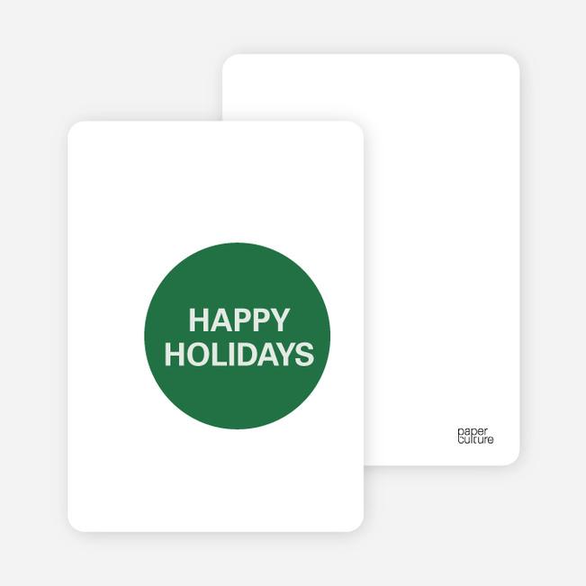 Overlapping Christmas Circles Invitations - Hunter Green