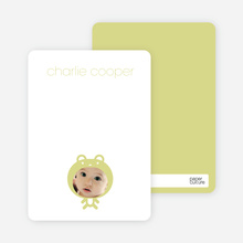 Baby Bear Announcement: Personal Stationery - Pistachio
