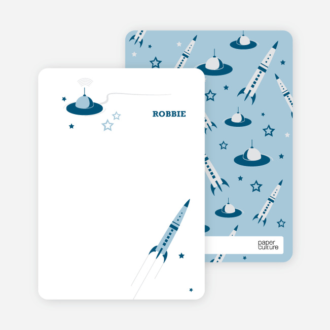 Personal Stationery for Cosmic Space Voyage Invitation - Cadet Blue