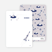 Cosmic Space Voyage: Personal Stationery - Navy Blue