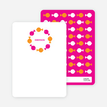 Fish Kaleidoscope: Personal Stationery - Carrot