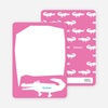 Personal Stationery for Later Alligator Modern Birthday Invitation - Hot Pink