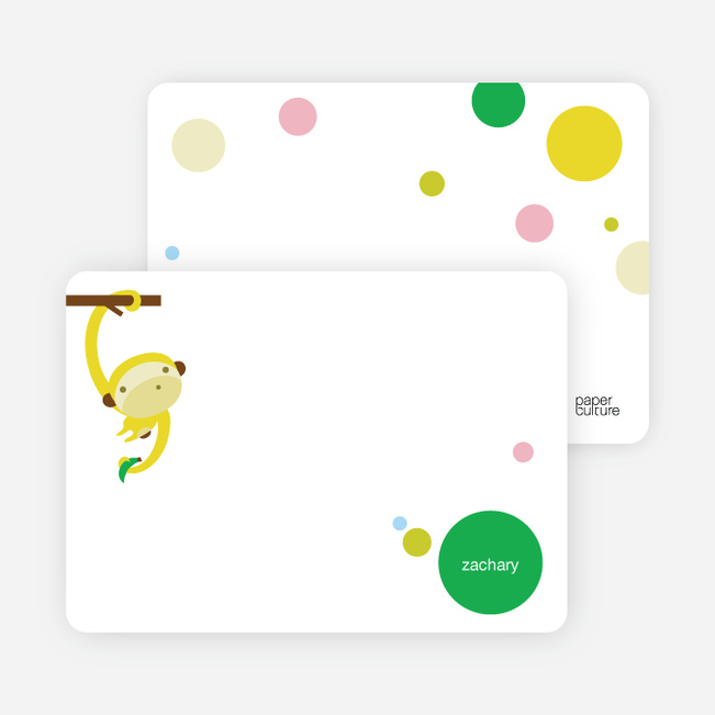 Personal Stationery for Monkey Business Modern Birthday Invitation - Banana