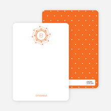 Peaceful Wreath: Personal Stationery - Orange Sherbet