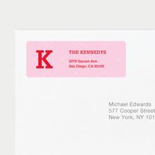 Plaid Labels - Pink