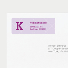 Plaid Return Address Labels - Purple
