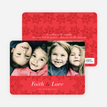 Poinsettia Holiday Cards - Red