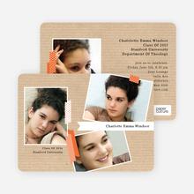 Professional Studio Multi Photo Graduation Cards - Brown