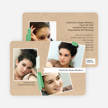 Professional Studio Multi Photo Graduation Cards - Green