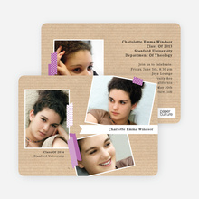 Professional Studio Multi Photo Graduation Cards - Purple