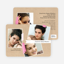 Professional Studio Multi Photo Graduation Cards - Pink