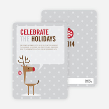 Rudolph's Ornament Holiday Invitations - Pale Silver
