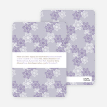 Snowflake Pattern Holiday Invitations - Wisteria