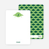 Stationery: 'Galaxy Spaceship' cards. - Forest Green