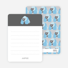 King Kang Birthday Notecard - Grey