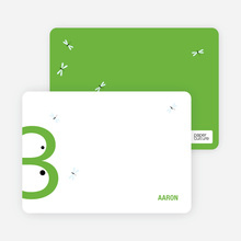 Stationery: 'Lilly Pad Frog' cards. - Light Green