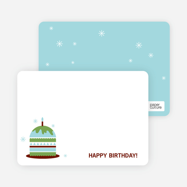 Stationery: 'Modern Birthday Cake Invitation' cards. - Apple Green