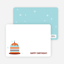 Stationery: 'Modern Birthday Cake Invitation' cards. - Bright Orange