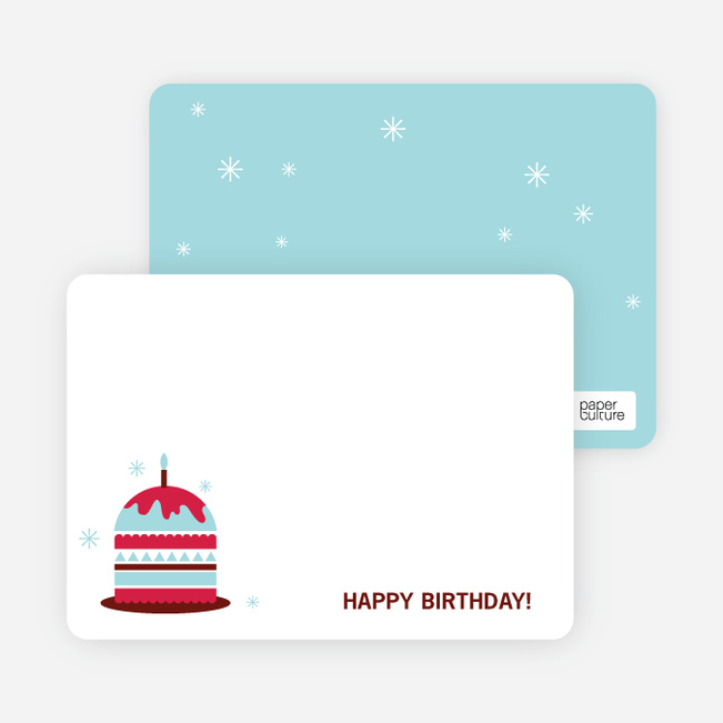 Stationery: 'Modern Birthday Cake Invitation' cards. - Cherry